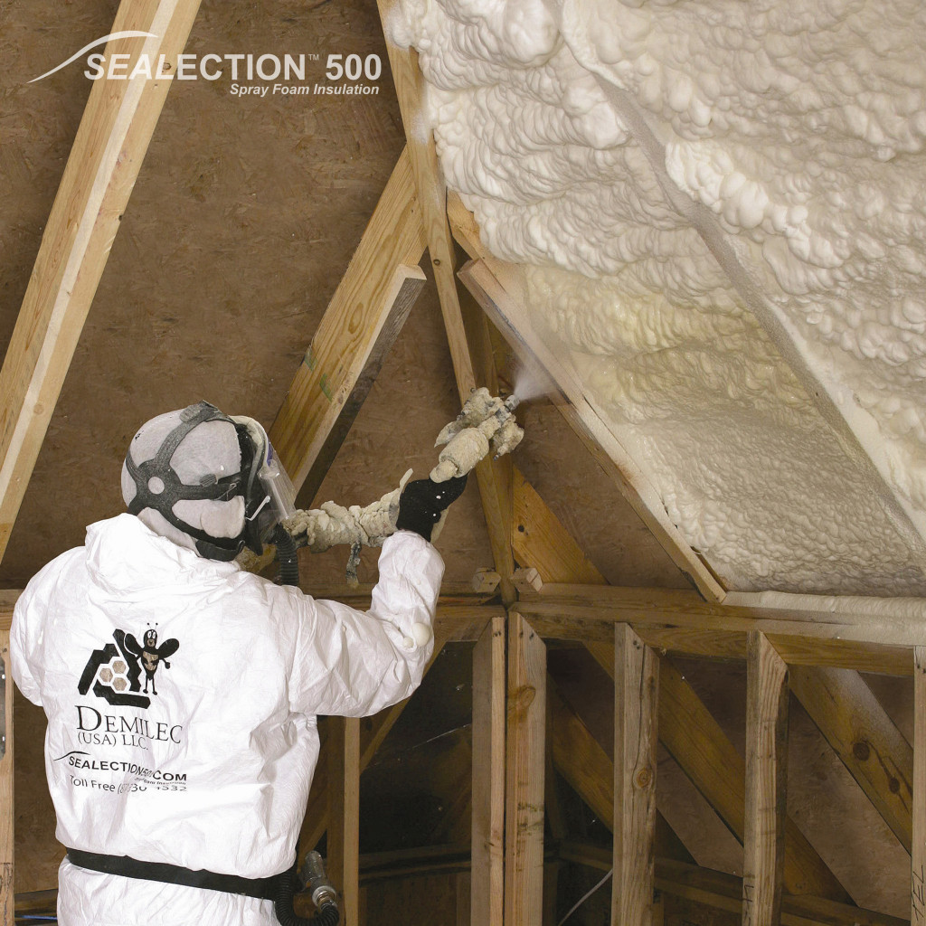 Demilec spray foam provides attic insulation Kansas City