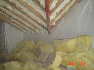 Roof underside attic insulation Kansas City
