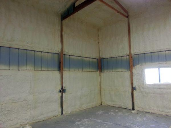 spray foam in pole barn